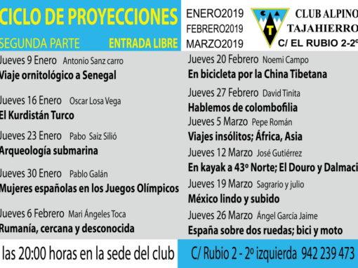 Ciclo Proyecciones 2019/20 2ª Parte